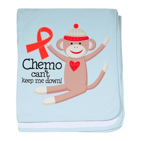 Leukemia Chemo Sock Monkey baby blanket