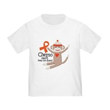Leukemia Chemo Sock Monkey T