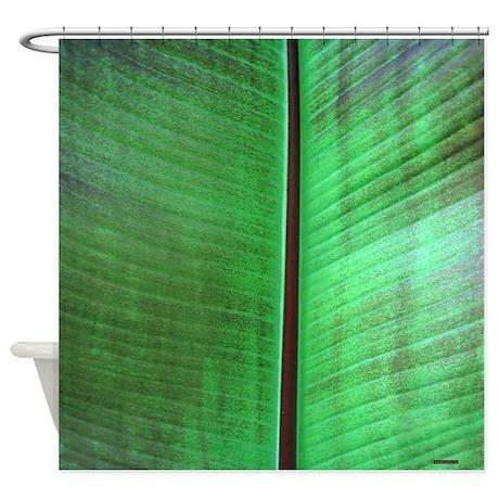 Banana Leaf Tropical Shower Curtain By Rebeccakorpita