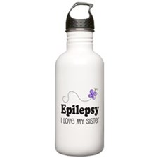 Epilepsy I Love My Sister Water Bottle