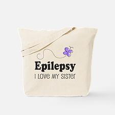 Epilepsy I Love My Sister Tote Bag