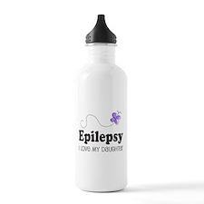 Epilepsy I Love My Daughter Water Bottle
