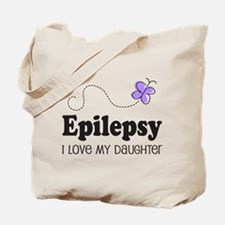 Epilepsy I Love My Daughter Tote Bag