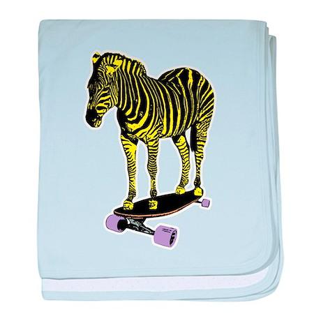 zebra skate baby blanket