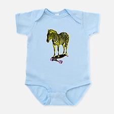 zebra skate Infant Bodysuit
