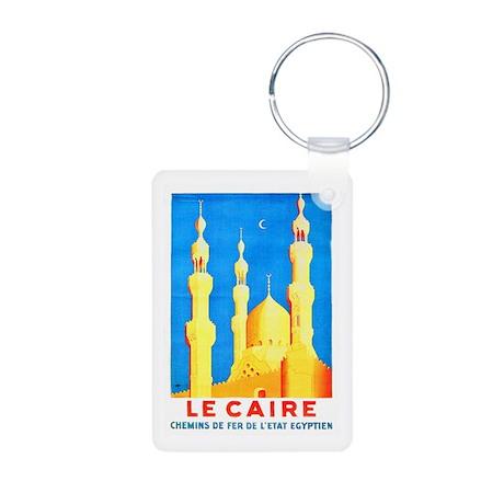 Egypt Travel Poster 2 Aluminum Photo Keychain
