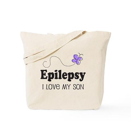 Epilepsy I Love My Son Tote Bag