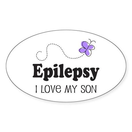 Epilepsy I Love My Son Sticker (Oval)