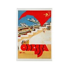 USSR Travel Poster 2 Rectangle Magnet