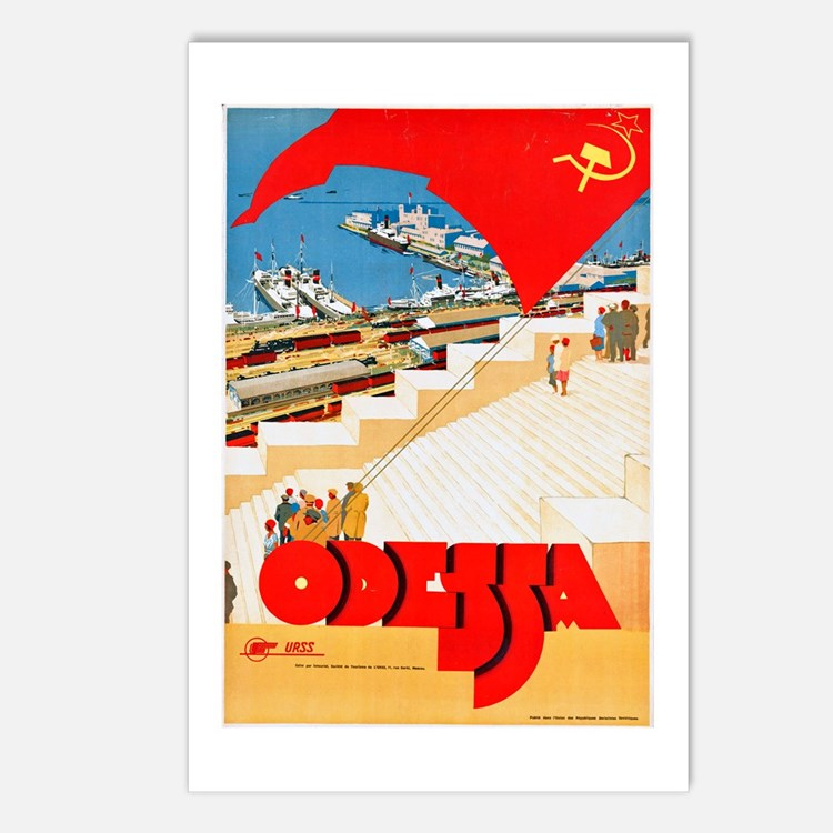 USSR Travel Poster 2 Postcards (Package of 8)