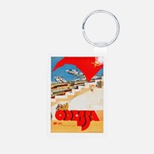 USSR Travel Poster 2 Keychains