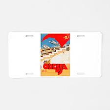 USSR Travel Poster 2 Aluminum License Plate