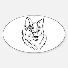 Black Wolf Tribal Tattoo Decal