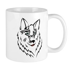 Black Wolf Tribal Tattoo Mug