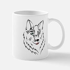 Black Wolf Tribal Tattoo Mug