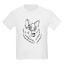 Black Wolf Tribal Tattoo T-Shirt