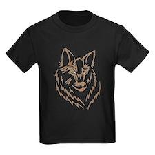 Brown Wolf Tribal Tattoo T