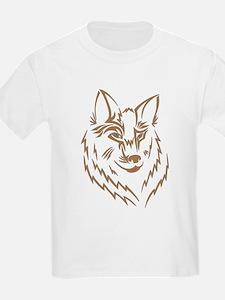 Brown Wolf Tribal Tattoo T-Shirt