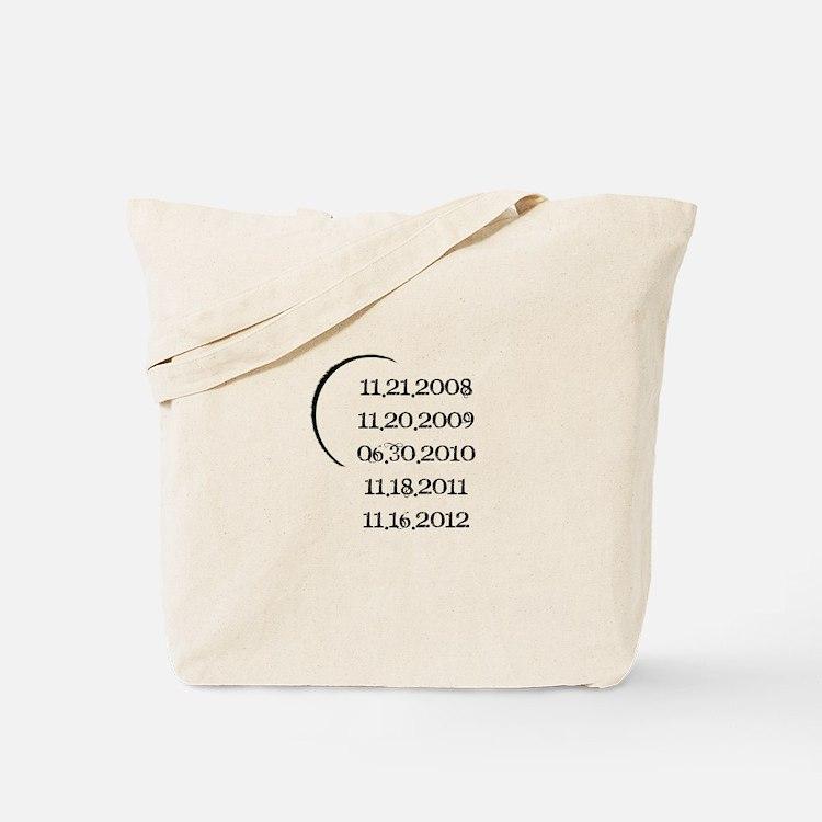 Twilight Release Dates Tote Bag