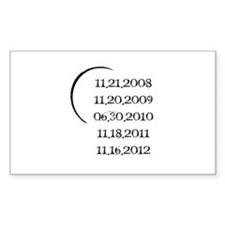 Twilight Release Dates Decal