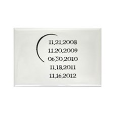 Twilight Release Dates Rectangle Magnet