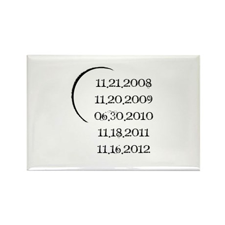 Twilight Release Dates Rectangle Magnet (100 pack)