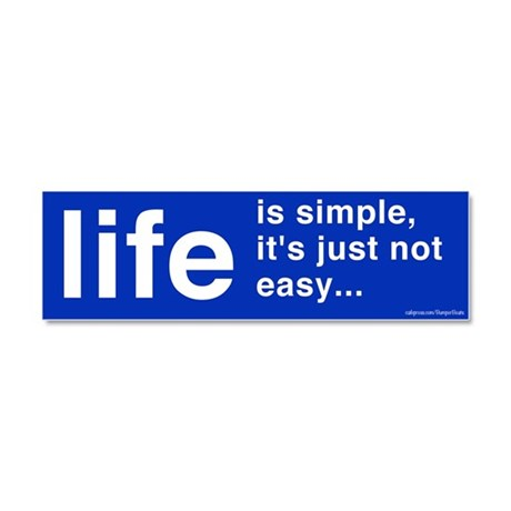 Life Is Simple Magnet Car Magnet 10 x 3