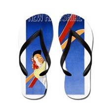 New Hampshire Travel Poster 1 Flip Flops