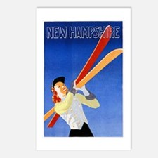 New Hampshire Travel Poster 1 Postcards (Package o