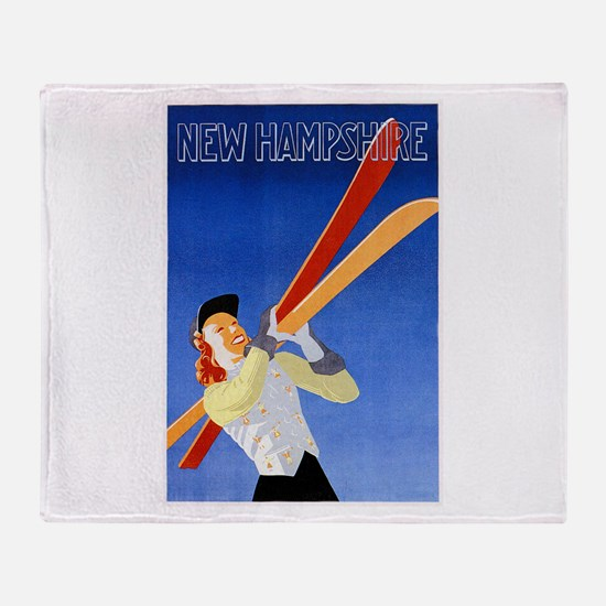 New Hampshire Travel Poster 1 Throw Blanket