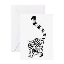Black Lemur Greeting Card