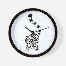 Black Lemur Wall Clock