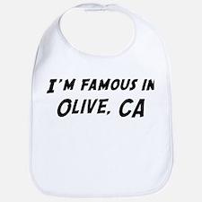 Famous in Olive Bib