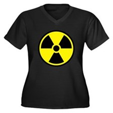 Radioactive Women's Plus Size V-Neck Dark T-Shirt