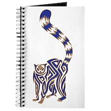Blue and Tan Lemur Tribal Tattoo Journal