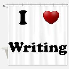 Writing Shower Curtain