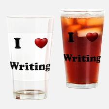 Writing Drinking Glass