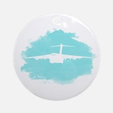 C-17 aircraft silhouette Ornament (Round)