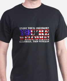 You're Welcome: Veteran T-Shirt