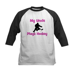 My Uncle Plays Hockey (in pink) Kids Baseball Jers