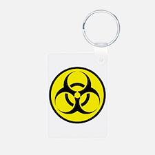Biohazard Aluminum Photo Keychain