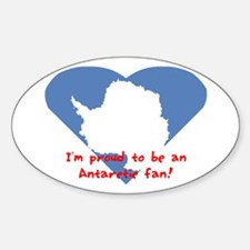 Antartic flag fan Oval Decal