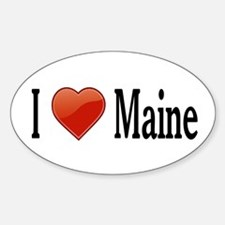 I Love Maine Sticker (Oval)