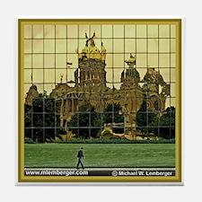 Iowa Capitol Reflection Tile Coaster