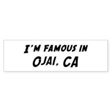 Famous in Ojai Bumper Bumper Sticker