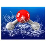 Water molecule Wrapped Canvas Art