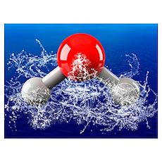 Water molecule Poster