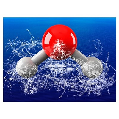 Water molecule Canvas Art