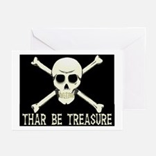 Thar Be Treasure Greeting Cards (Pk of 10)