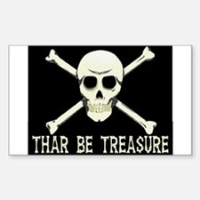 Thar Be Treasure Rectangle Decal
